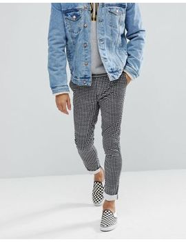 Asos Skinny Pants In Monochrome Check by Asos