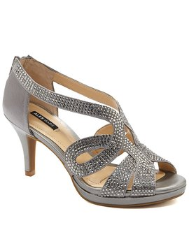 Alex Marie Dayten Rhinestone Embellished Satin Dress Sandals by Alex Marie