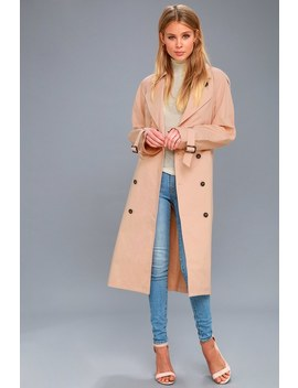 Wesley Blush Pink Trench Coat by Astr The Label