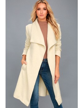 Isaac Light Beige Boucle Wrap Coat by Bb Dakota