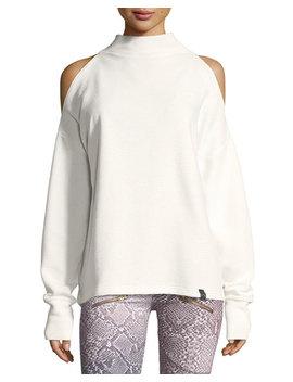 Keystone Cold Shoulder Funnel Neck Sweatshirt by Neiman Marcus