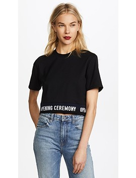 Elastic Logo S/S Tee by Opening Ceremony