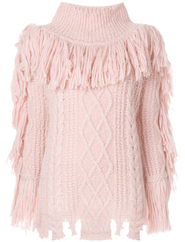 Fringed Turtleneck Sweater by Philosophy Di Lorenzo Serafini