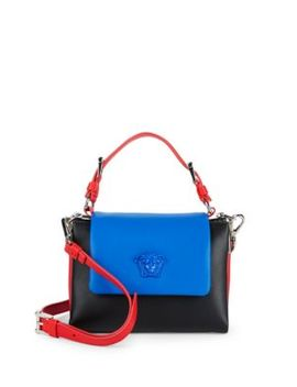 Small Colorblock Satchel Bag by Versace
