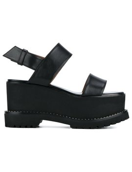 Black Ursa 90 Platform Sandals by Givenchy