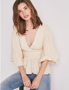 Pintuck Flowy Top by Lucky Brand