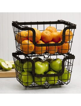 Stacking/Nesting Metal Basket by Gourmet Basics By Mikasa
