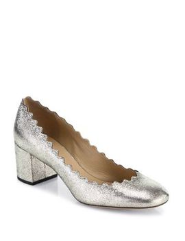 Lauren Metallic Leather Pumps by Chloé