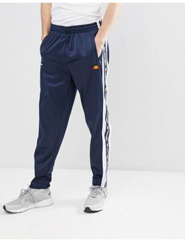 Ellesse Straight Jogger With Popper Detail In Navy by Ellesse