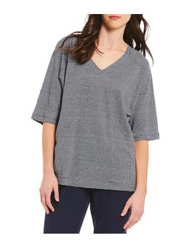 Eileen Fisher V Neck Box Top by Eileen Fisher