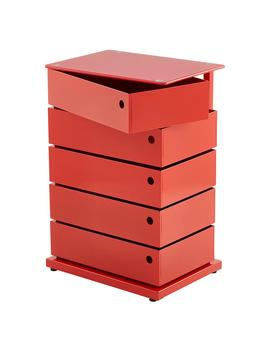 Red 5 Bin Storage Tower by Container Store