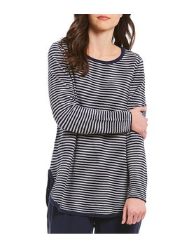 Eileen Fisher Striped Round Neck Top by Eileen Fisher