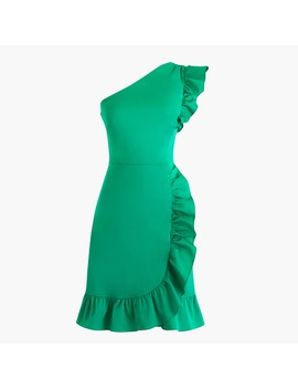 One Shoulder Ruffle Dress by J.Crew