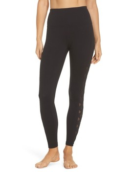 Laser Cut High Waist Leggings by Zella