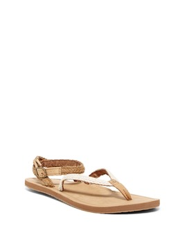 Braided Wrap Creme Sandal (Women) by Reef