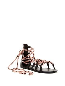 Marlo Lace Up Sandal by Liliana