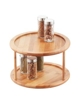 2 Tier Bamboo Lazy Susan by Container Store