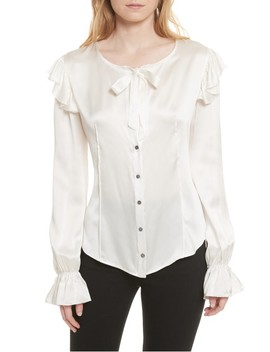 Cassanova Tie Neck Silk Blouse by Cinq À Sept