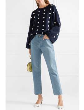 Oversized Embellished Cotton Sweater by Michael Michael Kors