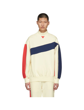 Ivory Colorblocked Mock Neck Sweatshirt by Ader Error