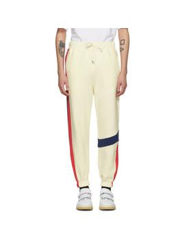 Ivory Colorblock Lounge Pants by Ader Error