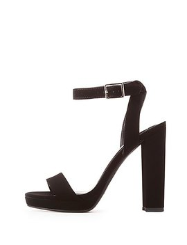 Faux Nubuck Two Piece Sandals by Charlotte Russe