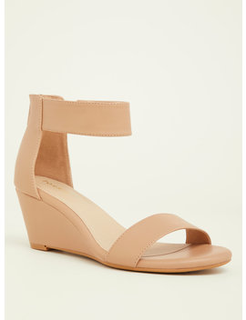 Nude Double Strap Mini Wedges (Wide Width) by Torrid