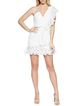 Frill Shoulder Minidress by Bardot