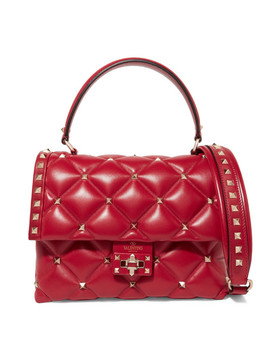Candy Stud Quilted Leather Shoulder Bag by Valentino