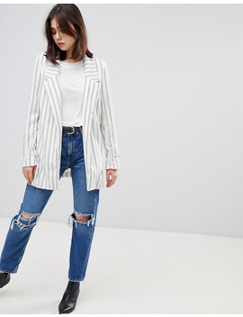 Stradivarius Pinstripe Soft Tailored Blazer by Stradivarius