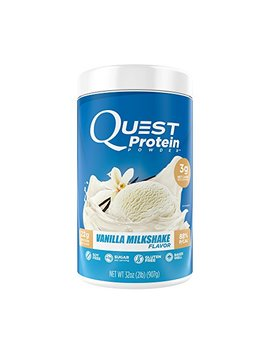 Quest Nutrition Protein Powder, Vanilla Milkshake, 22g Protein, 3g Net Carbs, 88 Percents P/Cals, 2lb Tub, High Protein, Low Carb, Gluten Free, Soy Free, Packaging May Vary by Quest Nutrition
