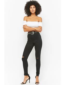 Ripped High Rise Jeans by Forever 21