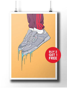 Adidas Yeezy Powerphase Calabasas Poster / Wall Art / Wall Decor / Kanye West / Dope Art / Street Fashion Art / Original Adidas / Artwork by Etsy