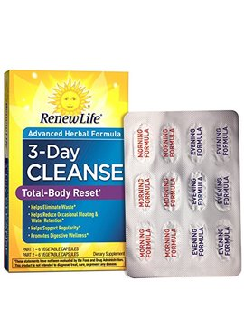 Renew Life   Total Body Reset   Digestive Detox And Cleanse Supplement   3 Day Program by Renew Life