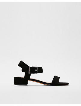 Buckle Strap Mirco Heel Sandals by Express
