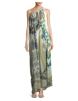 Sleeveless Printed Silk Maxi Dress, One Size by Camilla