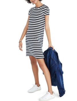 Stripe Velour T Shirt Dress by Madewell