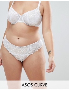 Asos Curve Rita Lace Mix & Match Underwire Set In White by Asos Brand