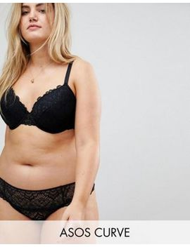 Asos Curve Rita Lace Mix & Match Plunge Bra Set In Black by Asos Brand