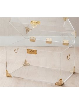 Ciao Bella Acrylic Trunk   Rustic Brass by Ciao Bella