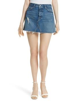 eva-denim-a-frame-gusset-skirt by grlfrnd