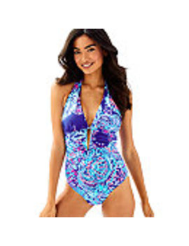 Lanai Halter One Piece Suit by Lilly Pulitzer