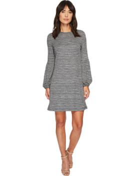 Lurex Blouson Sleeve Shift Dress by London Times