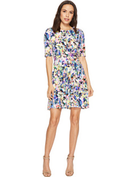 Hot House Techno Elbow Fit & Flare Dress by London Times