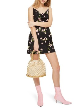 Floral Cowl Neck Slipdress by Topshop