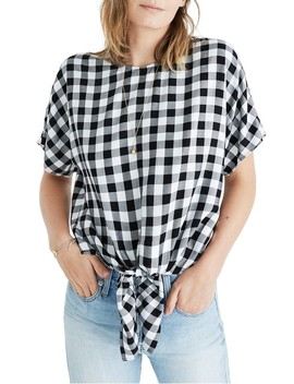 Buffalo Check Button Back Tie Top by Madewell