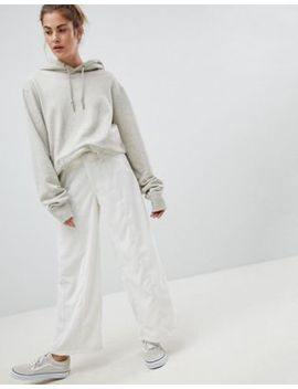 Pull&Bear Cord Wide Leg Trousers by Pull&Bear