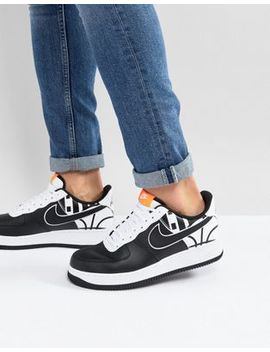 Nike Air Force 1 '07 Lv8 Trainers In Black 823511 011 by Nike