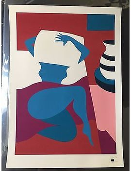Piet Parra No Work Today Screen Print (W/ Banksy Stik Obey Space Invader Pic) by Ebay Seller
