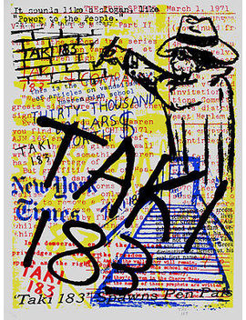 Taki 183 Collage Nyc Graffiti Signed Street Art Soldout (With Seen Cope2 Crash ) by Ebay Seller